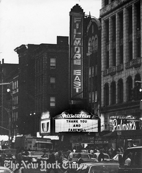 Daze at the Fillmore East…Hanging Out 101